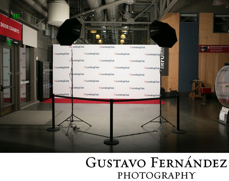 Step and Repeat Photo Booth Set Up