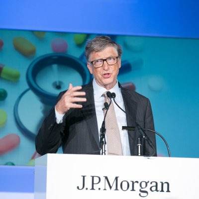 Bill Gates speaking at JP Morgan Healthcare Conference