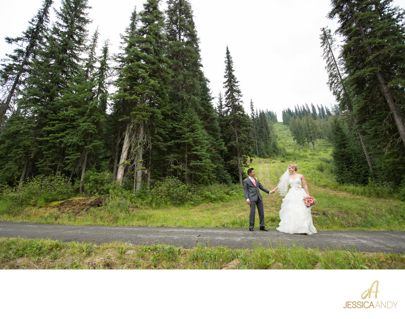 Sun Peaks Mountain summer destination wedding