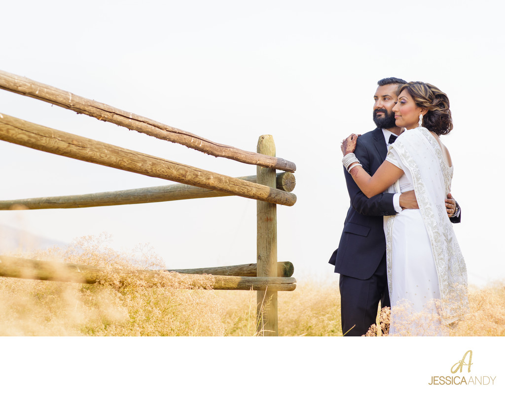 Kelowna Wedding Photographers - Bride and Groom Field