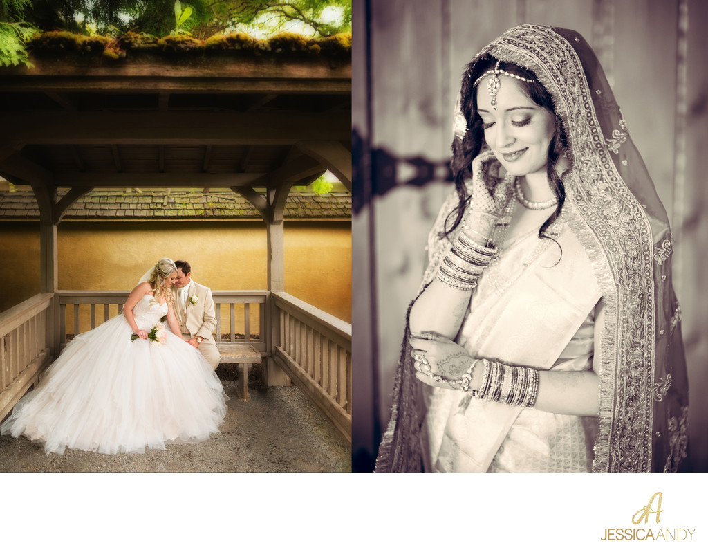 Bride Groom Gazebo | Portrait of Indian Wedding Dress