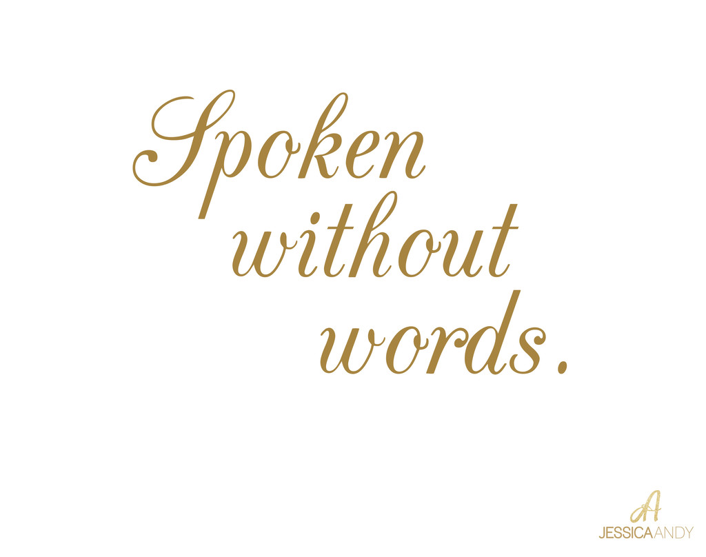 Spoken without words slide - Jessica and Andy Studios