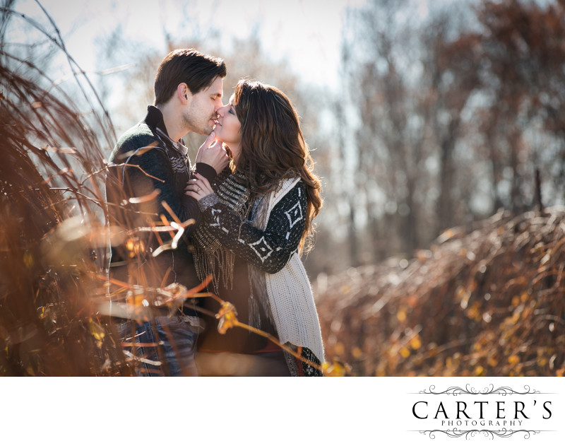 Crisp cool early morning engagement session