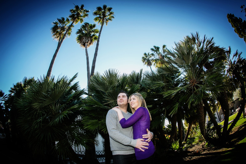 Engagement Photo with Palm Trees Balboa Park