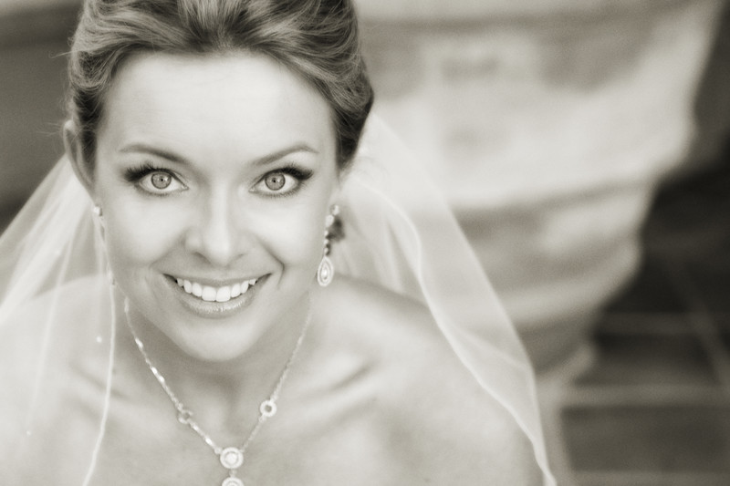 Close up of bride wedding photography at Grand Del Mar