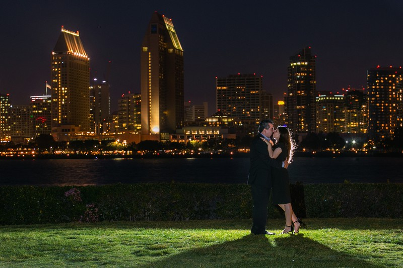 Night Shot Engagement Photo Coronado