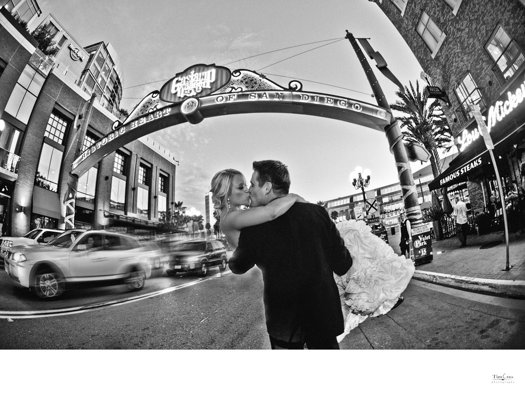 San Diego Gaslamp Bride and Groom