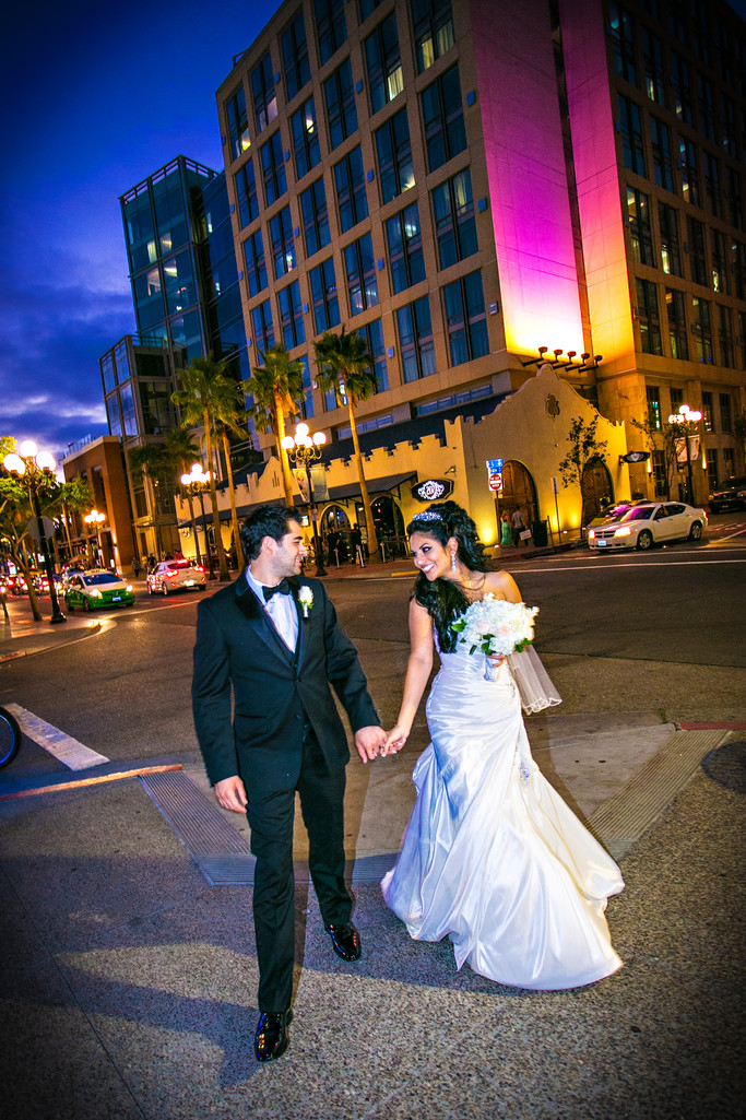 Bride and Groom with Hard Rock Hotel