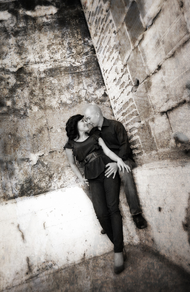 Old Wall Engagement Photo