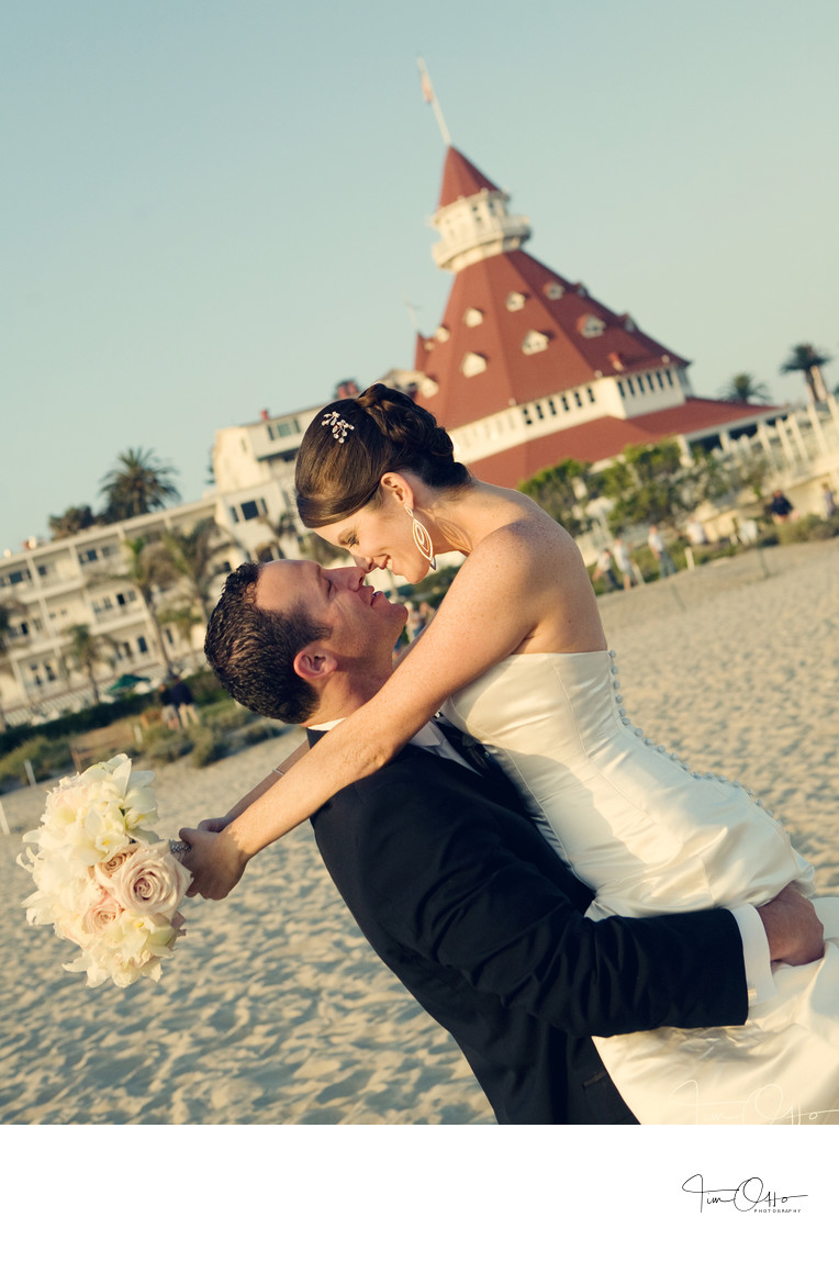 Hotel Del Coronado Bride and Groon