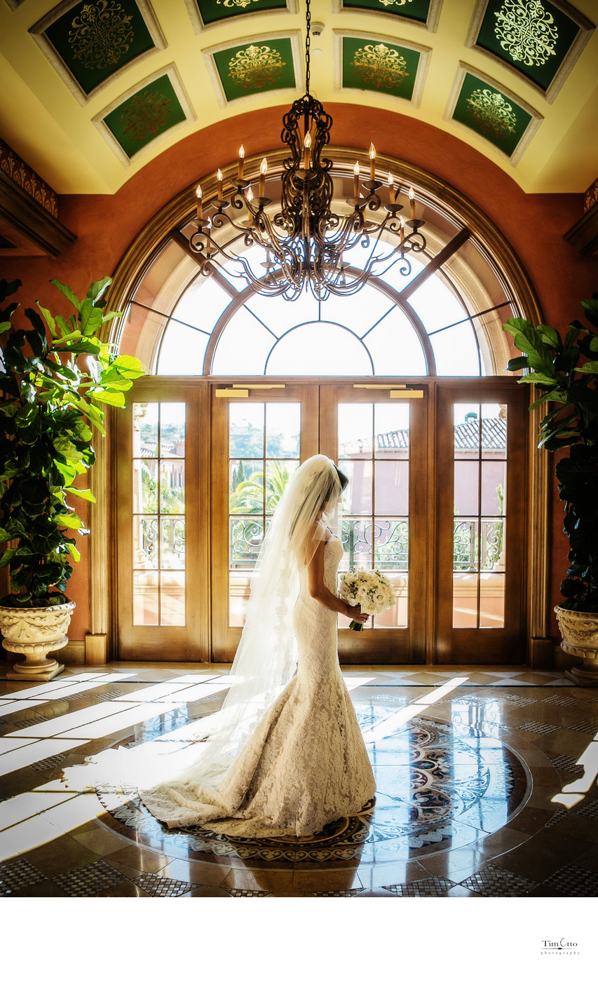 Bride moment at Grand Del Mar Wedding