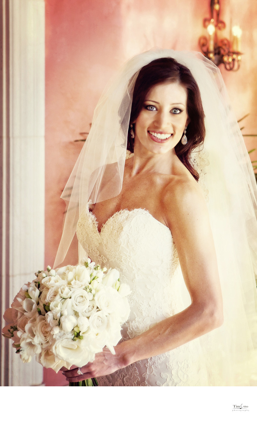 Portrait of a stunning bride
