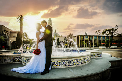 Balboa Park The Prado Wedding Photographer
