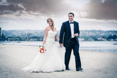Bride and Groom Mission Beach