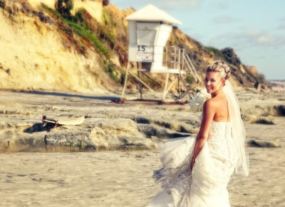 Bride Del Mar Beach Wedding Photography