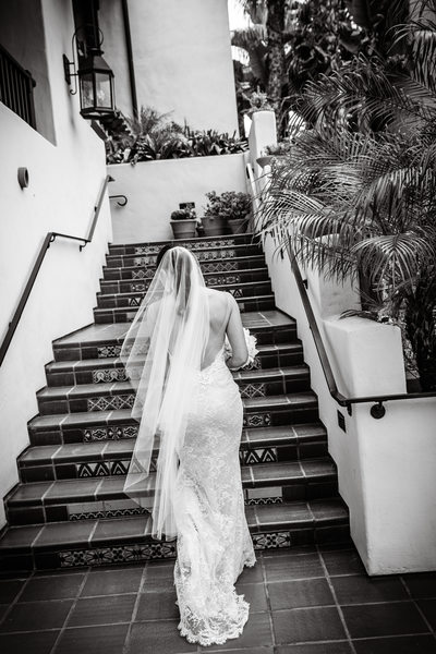 Back of dress shot La Jolla Wedding Photographer