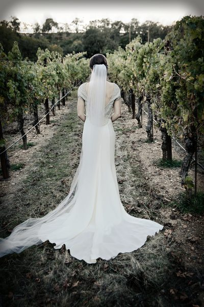 Back of Dress Photo at Brutocao Vineyards