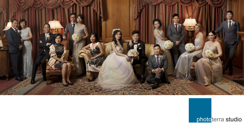 Asian Family Wedding Panorama