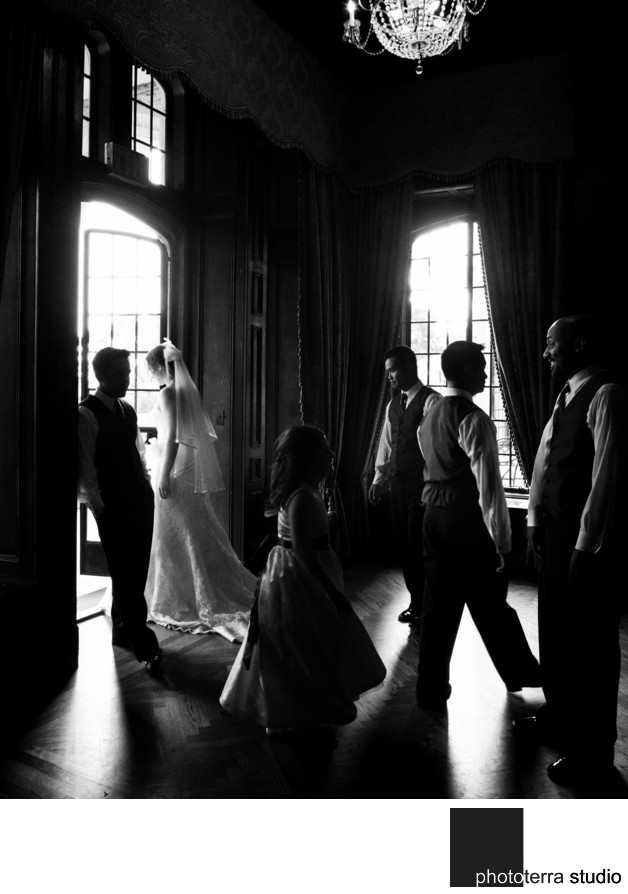 Casa Loma Toronto Library Wedding Party Photojournalism