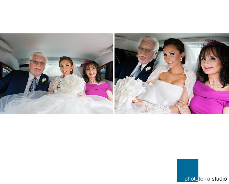 Limo Photos of our Bride with Parents