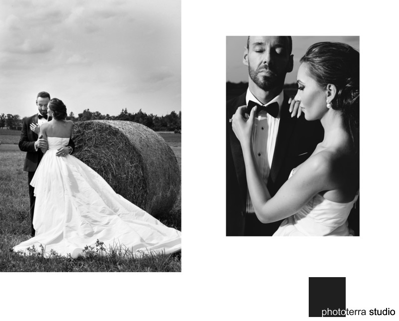 Black and White Outdoor Wedding Photos