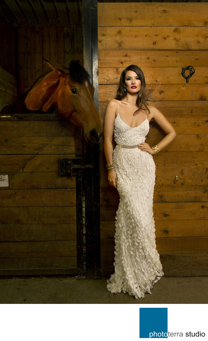 Stable Wedding Photo Shoot
