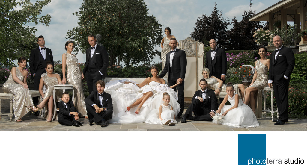 Bridal Party Outdoor Panorama