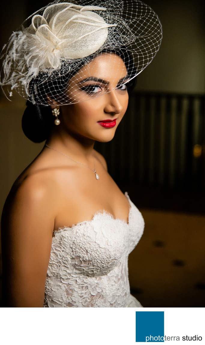 Persian Bride with Fascinator