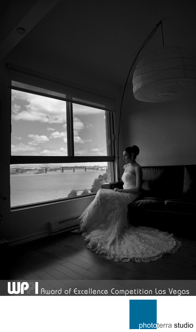 Black and White Wedding Shoot