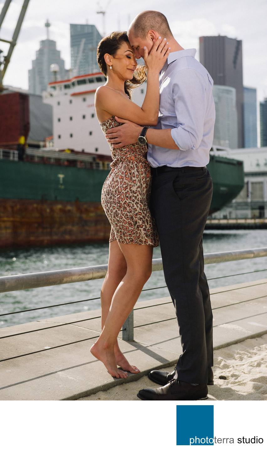 Downtown Toronto Couple's Photo