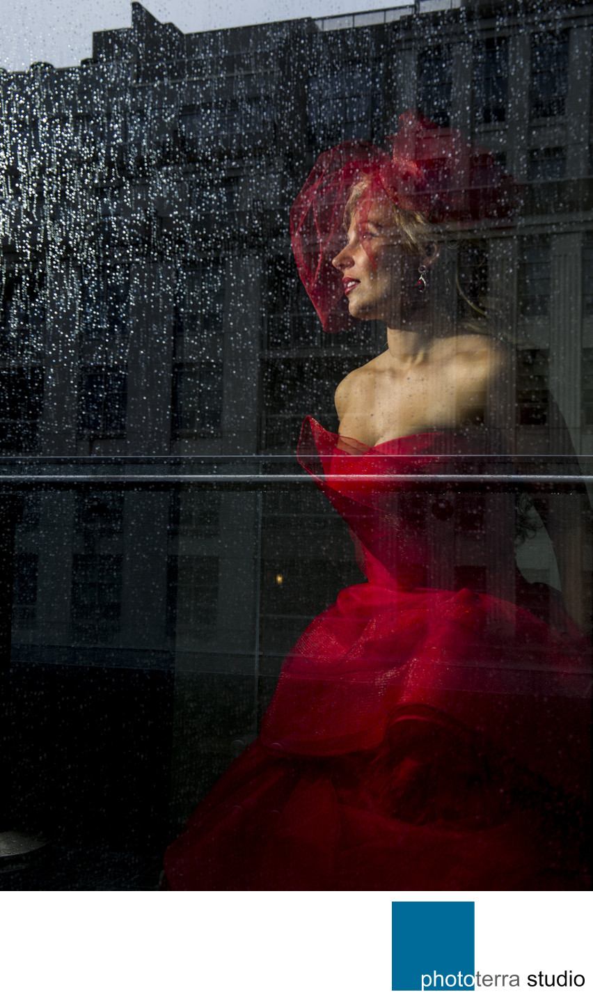 Bride in Red by Vera Wang