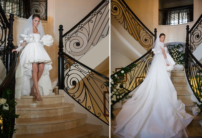 Front and Back Wedding Dress Photos