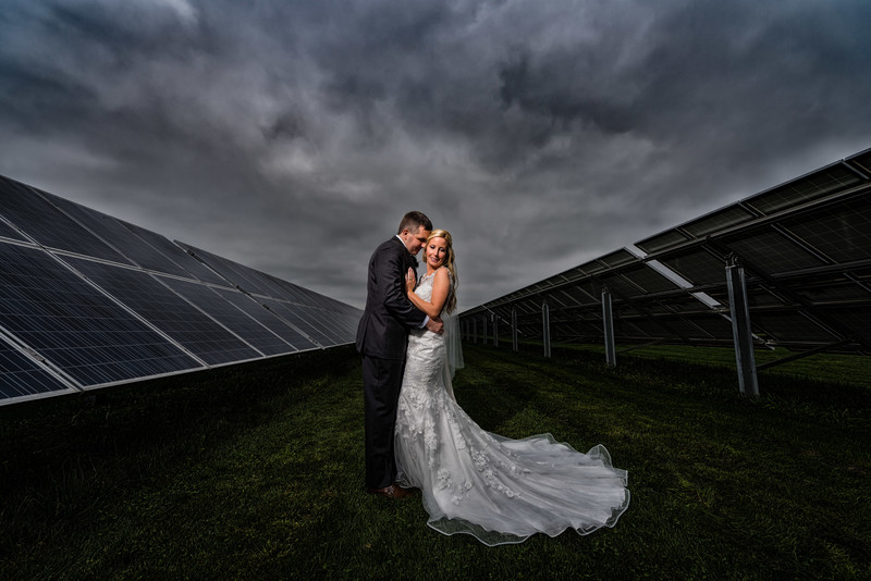Harvest View Barn Wedding Photography Dramatic Couple Portrait
