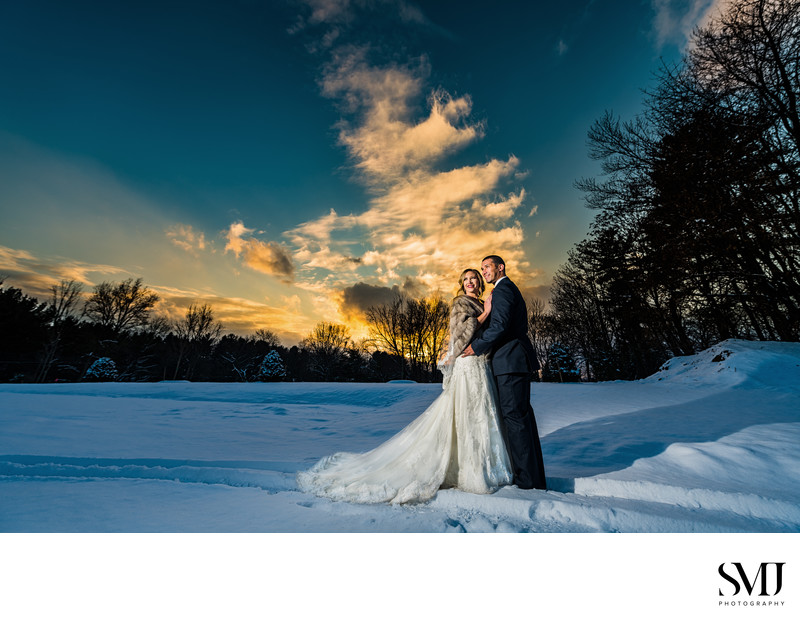 Historic Ashland Wedding Photography Winter Sunset Couple Portrait