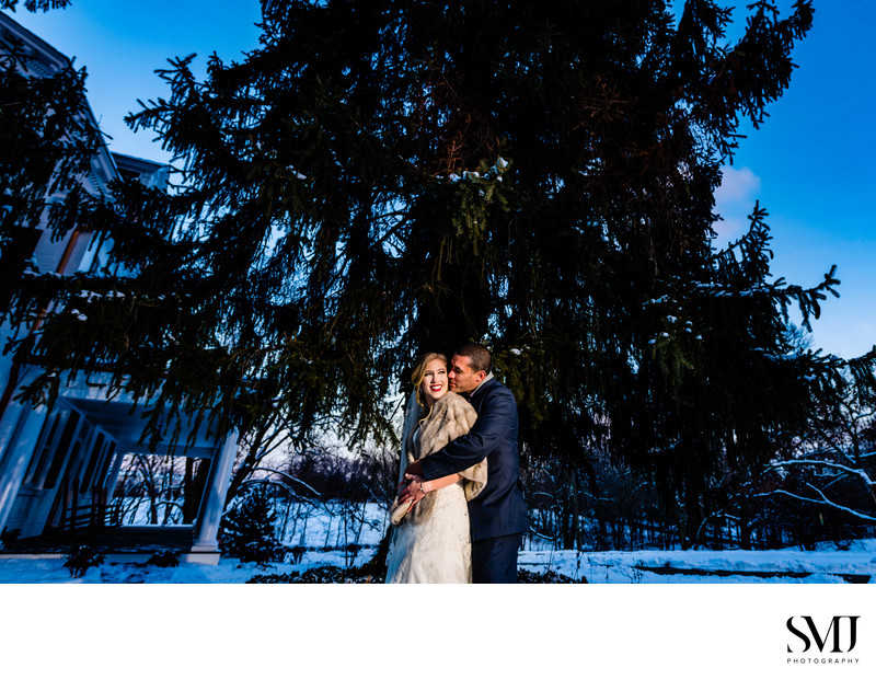 Historic Ashland Winter Wedding Photography