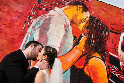The Bond Wedding Portrait Couple Mural Downtown York