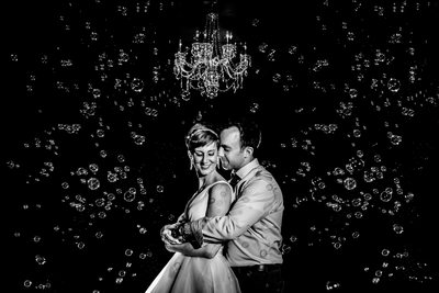 The Bond Wedding Photography Creative Couple Bubble Portrait