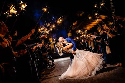 Liberty Mountain Resort Wedding Sparkler Sendoff