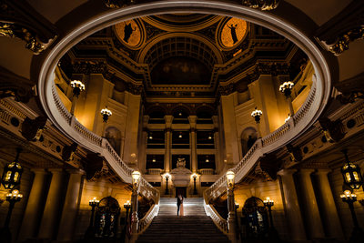 Pennsylvania Capitol Building Engagement Wedding Photographer