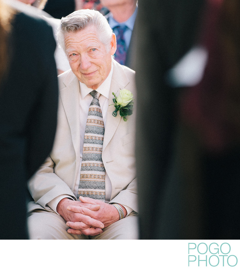 Teary father of the groom at Sturbridge MA wedding
