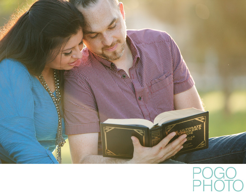 Book Lovers Engagement Session in Jupiter, Florida