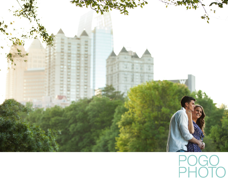 Piedmont Park Engagement Portraits in Atlanta, Georgia