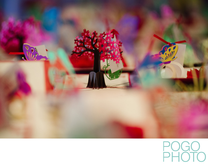 Photo of Colorful Placecards by Lovepop at Morikami