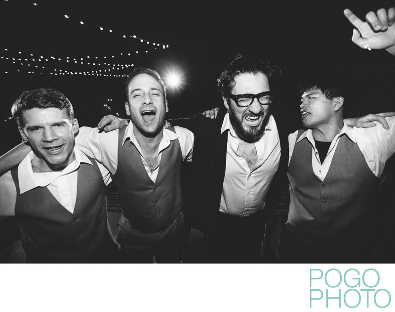 Drunken Groomsmen Celebrate at Wildly Fun Wedding Party