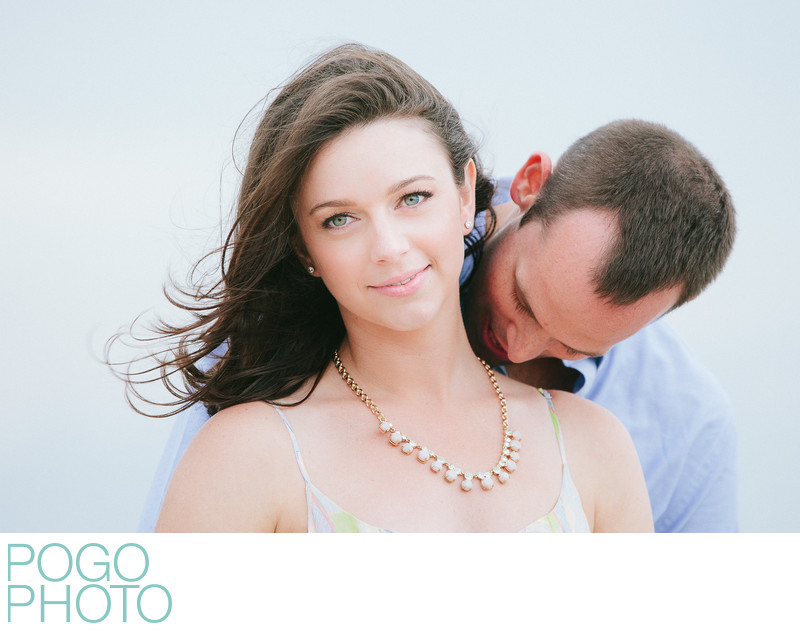 Striking beach engagement portraits on Singer Island