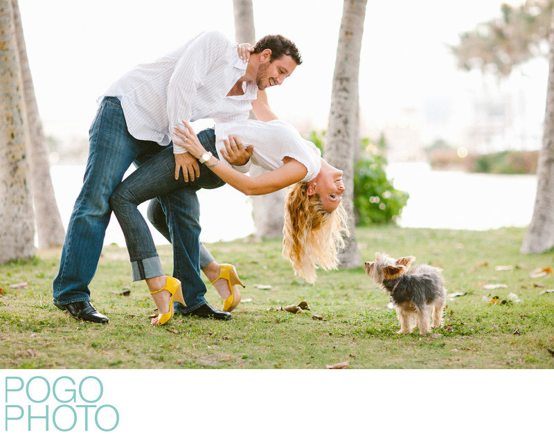 Casual engagement portraits on Palm Beach Island