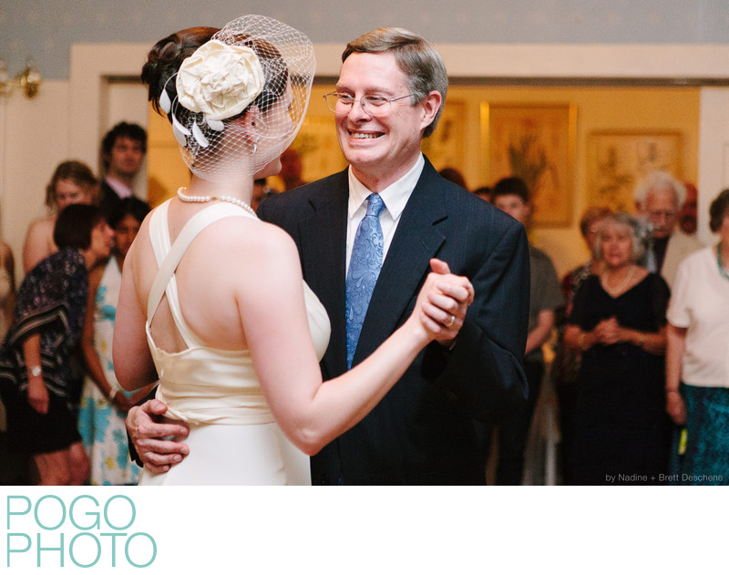 The Pogo Wedding: Em dancing with her dad