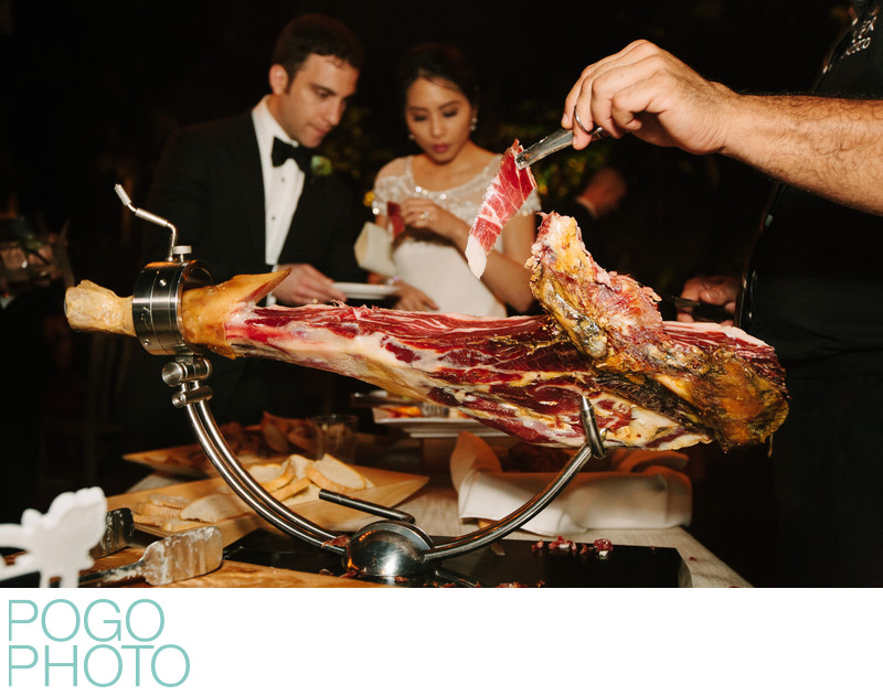 Jamón Ibérico Served at Wedding Cocktail Hour in Miami