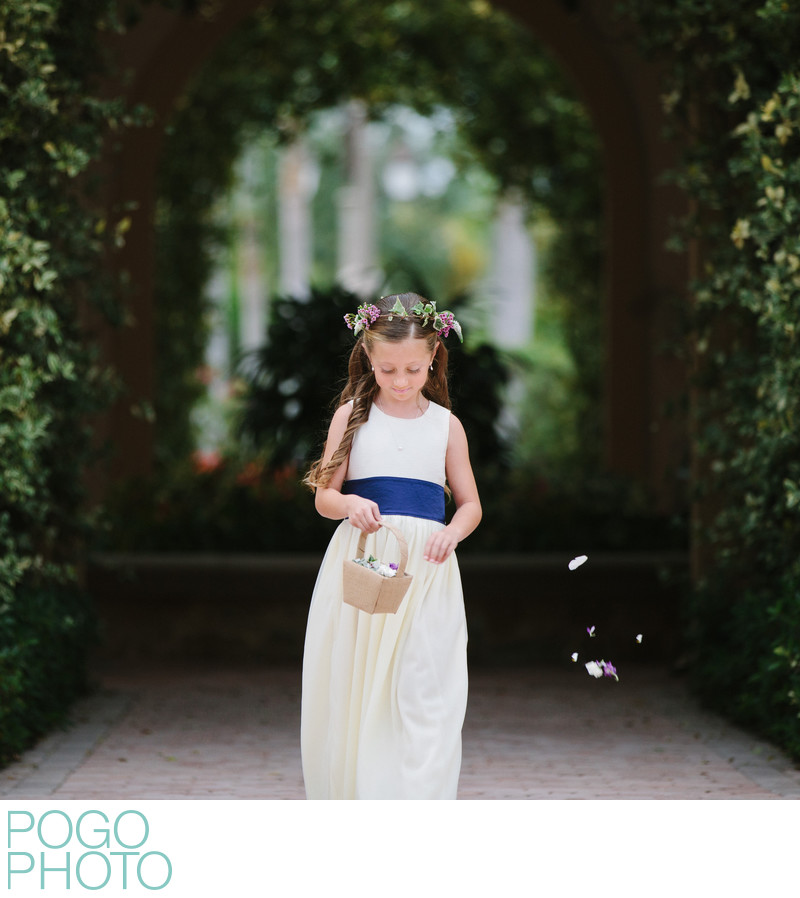 Jupiter Wedding Photographer Documents Flower Girl