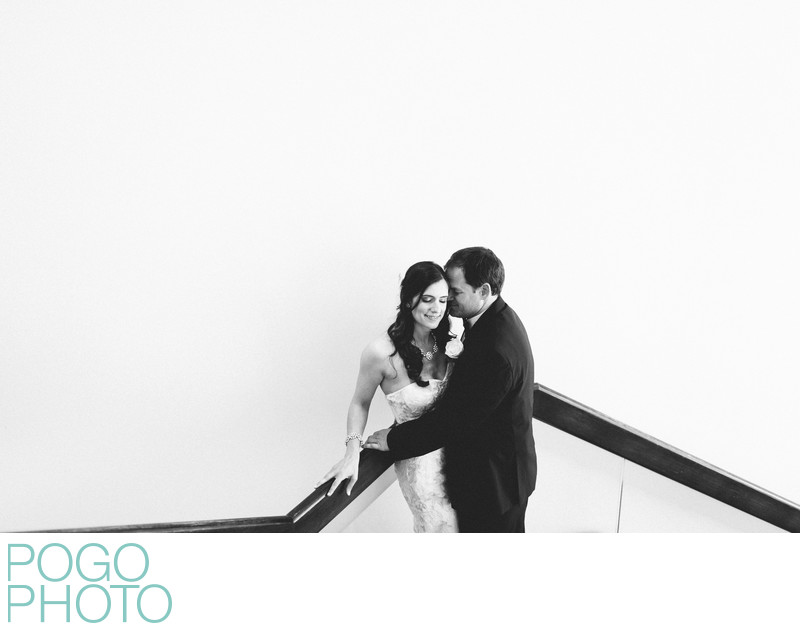 Natural black and white wedding portraits